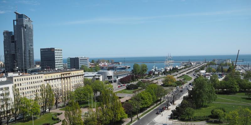 Gdynia Apartamenty Anna widok na morze z okna Apartamentu S